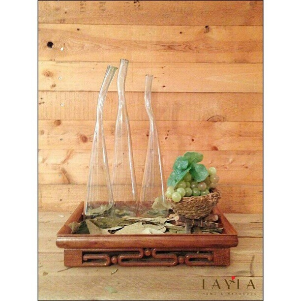 Abstract glass vases in transparent glass and blue tint!  #abstract#vase#glass#layla#designer#saudi#jeddah