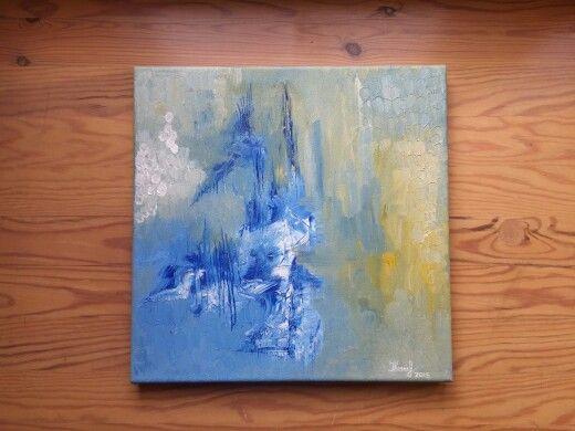 Abstract. By Ieva Krivma. Oil. 30x30 cm. Canvas