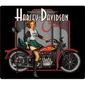 Harley-Davidson® Classic Pin Up Babe Embossed Tin Sign