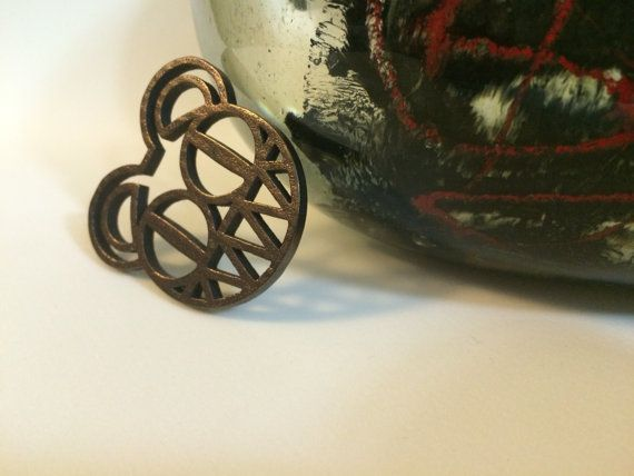 Radiohead Bear  Polished Bronze Steel  by JoyComplex on Etsy