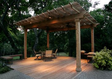 Southwest Fence & Deck Arbor - eclectic - outdoor lighting - dallas - Southwest Fence & Deck