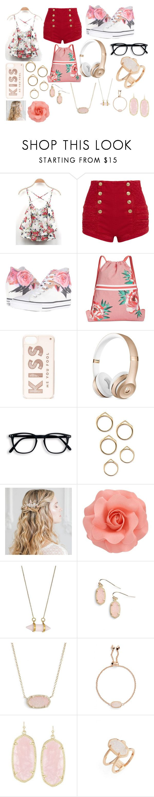 """HAPPY VALENTINES DAY!!!"" by mintmadness4lyfe ❤ liked on Polyvore featuring Pierre Balmain, Converse, Vera Bradley, Kate Spade, Dee Berkley and Kendra Scott"
