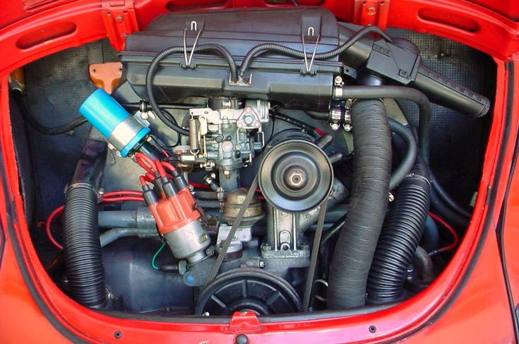 My 1972 Super Beetle Engine Bay Details. Volkswagens and