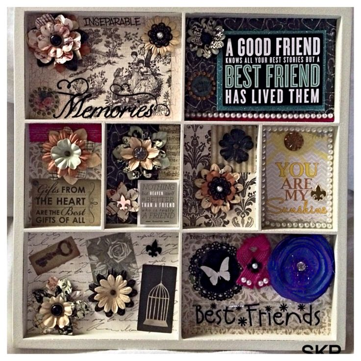 Birthday Present For My Best Friend Diy: Homemade Memory Board Collage For My Best Friend's