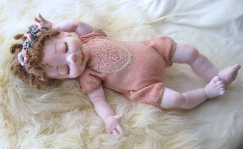 """ALICIA 20"""" Doll & toy - OOAK soft sculpture, cloth doll, collectible"""