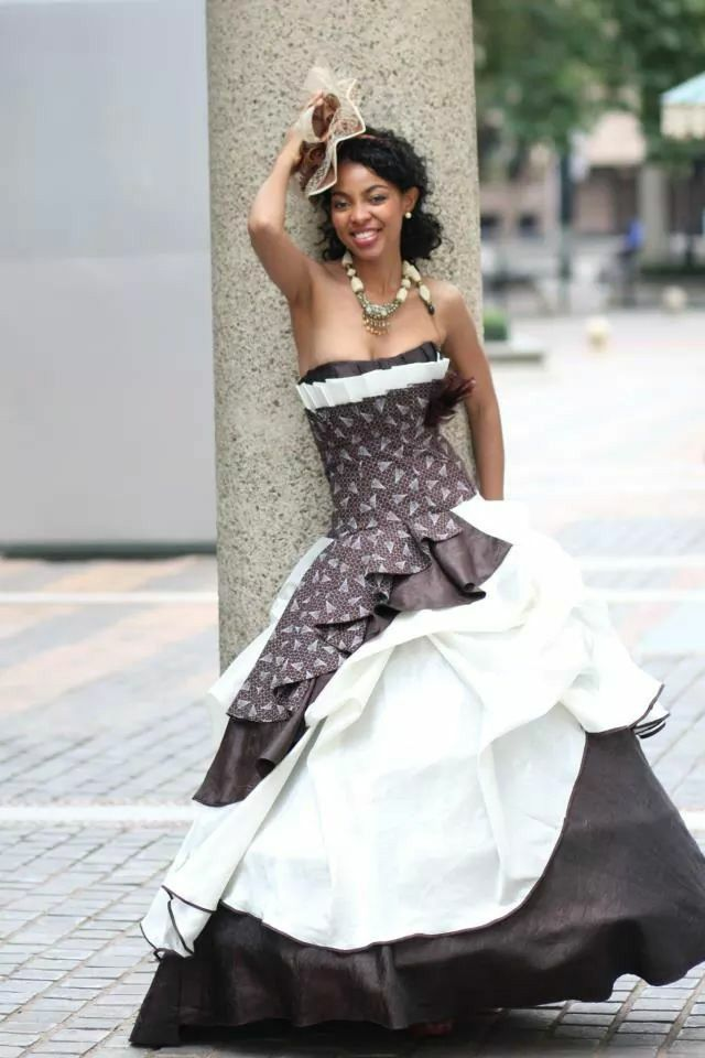Traditional Tswana wedding dress
