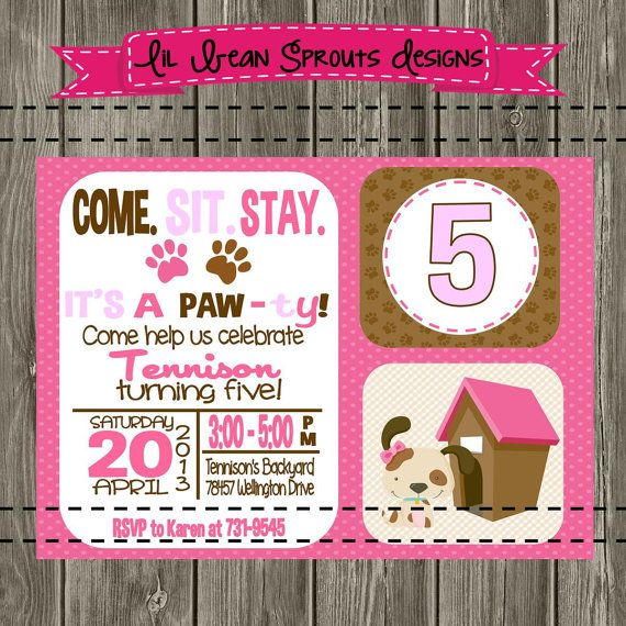 37 best images about Puppy Parties – Puppy Party Invitation