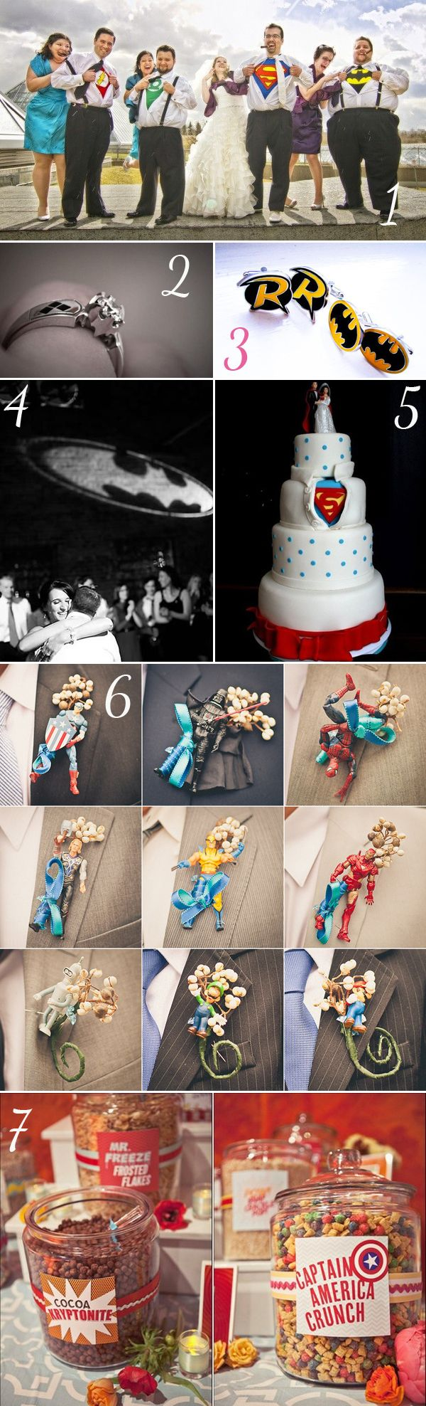 Theme mariage geek - http://www.instemporel.com/blog/index/billet/10786_deco-mariage-geek #Superheros
