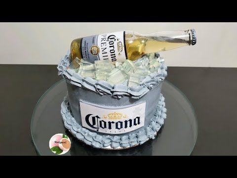 21st Birthday Cake For Guys, Beer Birthday Party, Happy Birthday Cakes, Beer Mug Cake, Beer Cupcakes, Cupcake Cakes, Bolo Jack Daniels, Corona Cake, Corona Beer