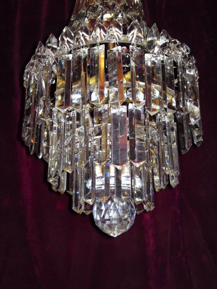 The 24 Best Images About Antique Crystal Chandeliers On