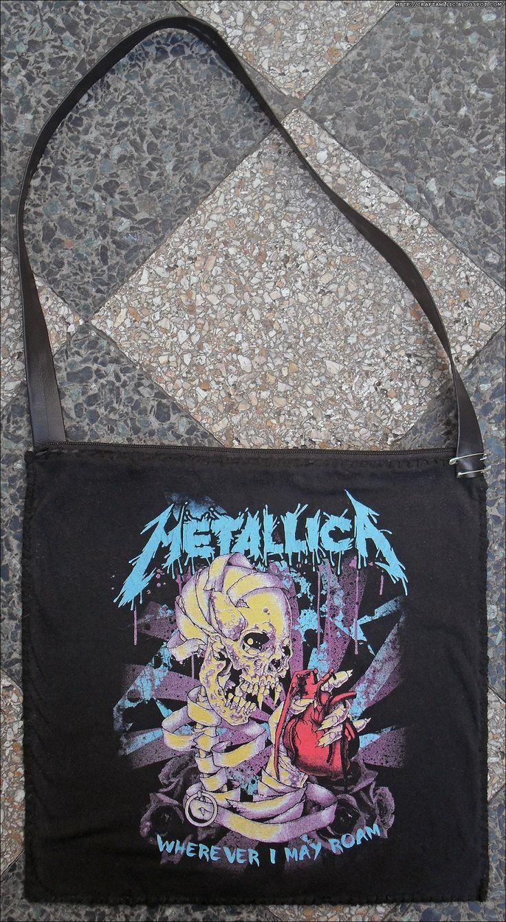 Recycled T-Shirt Shoulder Bag