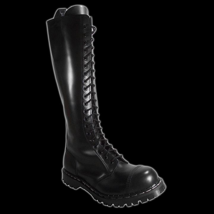 GRIPFAST - 20 EYELET BLACK STEEL CAP BOOT