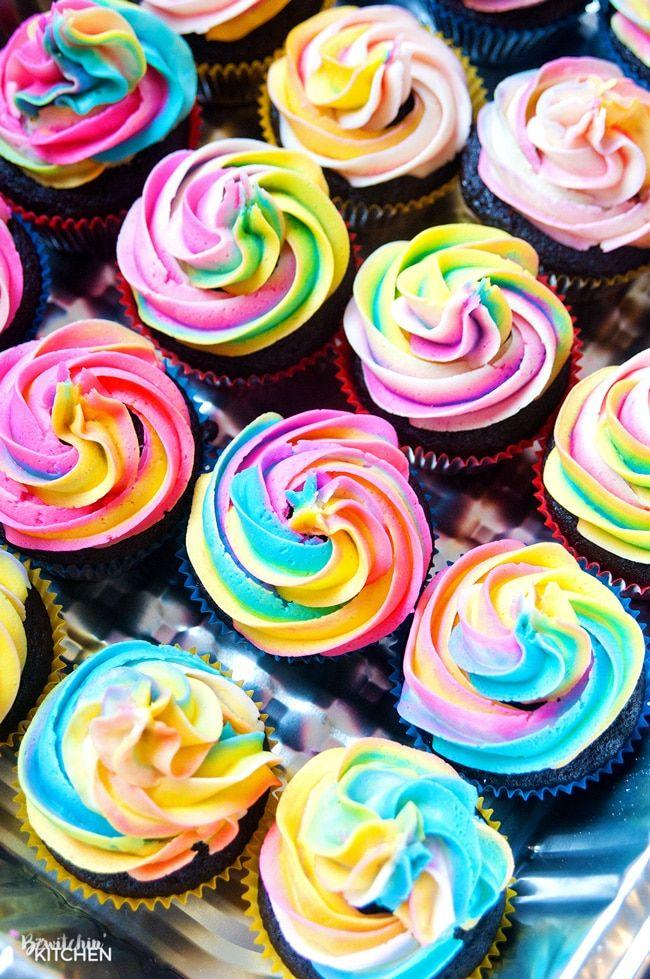 Rainbow Swirl Buttercream Frosting Recipe Easy Cake