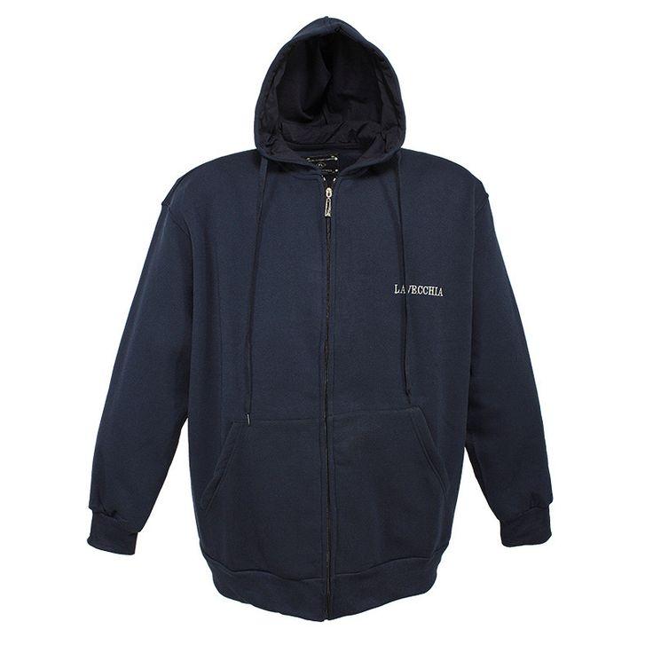 Sweatshirt Jacke Marine Uni Herrenmode XXL