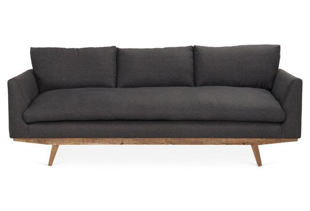 """Carmel 94"""" Sofa, Charcoal.  Its 45% off on One Kings Lane. Priced at $2599"""
