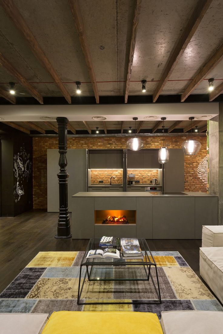 Old warehouse in montreal transformed into a dazzling contemporary - Today We Will Show You A Beautiful Loft In Kiev Ukraine A Project By Martinarchitects I Do Love Lofts Specially The Ones With That Industrial Feeling We