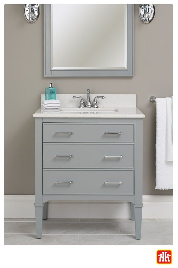 Having lots of bathroom storage is a must! This vanity has 3 drawers to optimize your bathroom storage.