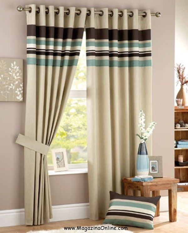 Curtina Harvard Duck Egg Lined Eyelet Curtains. Find This Pin And More On  20 Modern Living Room Curtains Design ...