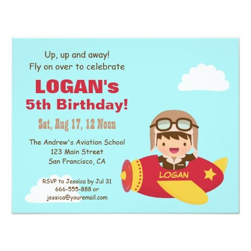 400 best airplane birthday party invitations images on pinterest, Birthday invitations