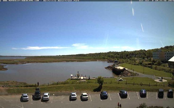 Wolfville Waterfront Park at high tide - Nova Scotia Webcams.