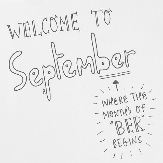 Welcome to September, hope it's treating you well so far! #welcome #September #ber #month #handlettering #handwritten #words #lettering #bubbleletters #art #design #creativity