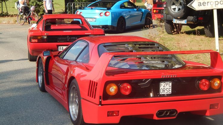 Cars and Coffee Biella 2016 at Top Gear IT base - 2: 2 F40, F50, Aventad...