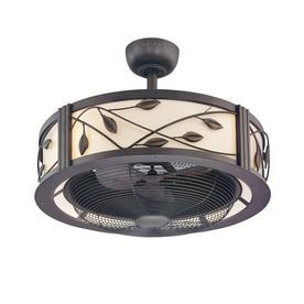 """allen + roth 23"""" Eastview Aged Bronze Ceiling Fan /// A ceiling fan I can get behind! Big blades are so ugly and hard to clean. This fan/light is GORGEOUS in person!"""