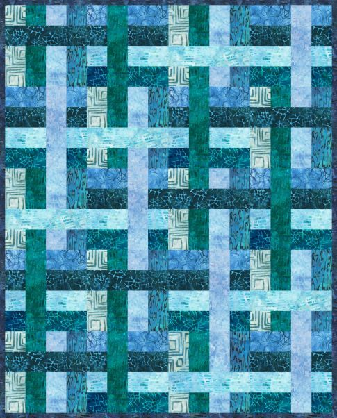 "Mini Come What May, 16 x 20"", designer quilt pattern by Jaybird Quilts seen at Robert Kaufman Fabric Company"