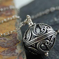 fun bali style sterling silver pendant on sterling silver chain: Bali Chic, Chic Necklaces, Sterling Silver Chains, Bali Style, Sterling Chains, Style Sterling, Fun Bali, Silver Bali, Sterling Silver Pendants