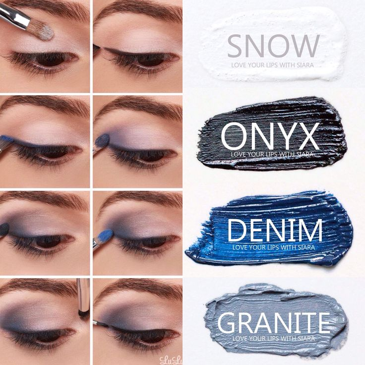 Step-by-step eyeshadow look using SeneGence ShadowSense colors in Snow, Onyx, Denim and Granite. Smudge proof, waterproof, crease-proof, long-lasting eyeshadow. Cream to powder eyeshadow. Cruelty free makeup | Makeup look | Makeup how to | Makeup tutorial | long-lasting makeup | LipSense | LipSense distributor | www.lastinglipsbylindsay.com | Insta @ lastinglips_by_lindsay | Bella | Blackberry | Violet Volt | Candlelight | Onyx | Amethyst