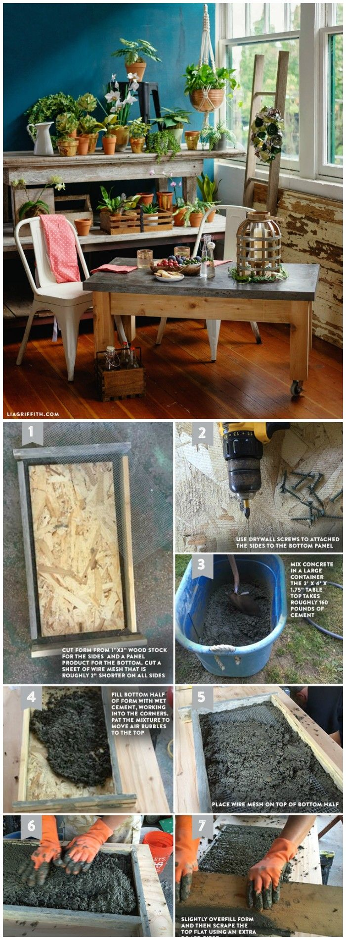 20 Amazing Cheap Home Decor Ideas: Best 25+ Concrete Table Top Ideas On Pinterest