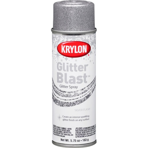 Krylon Glitter Blast, Silver Flash | For the wall hangings in the bedroom!