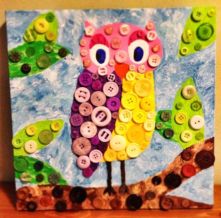Buttons Owl