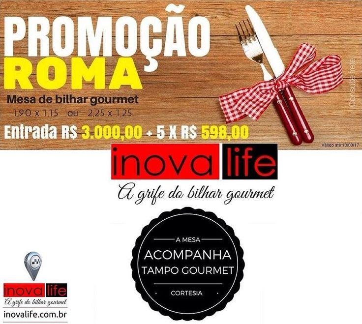 PROMOÇÃO INOVA LIFE BILHAR. Conheça os produtos com descoroa nas linhas Ipanema e Roma. #sinuca #inovalife #snooker #bilhar #sinucajantar