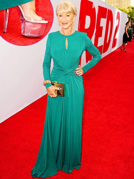 Helen Mirren wore stripper platform heels to the Red 2 premiere. My hero. :-)