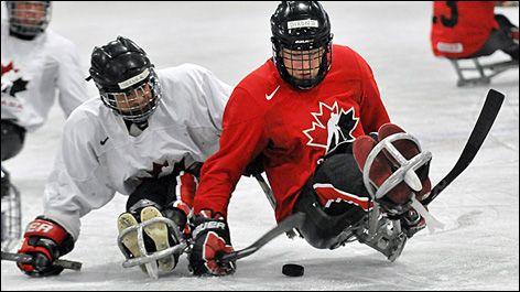 Team Canada: Sledge Hockey training camp.