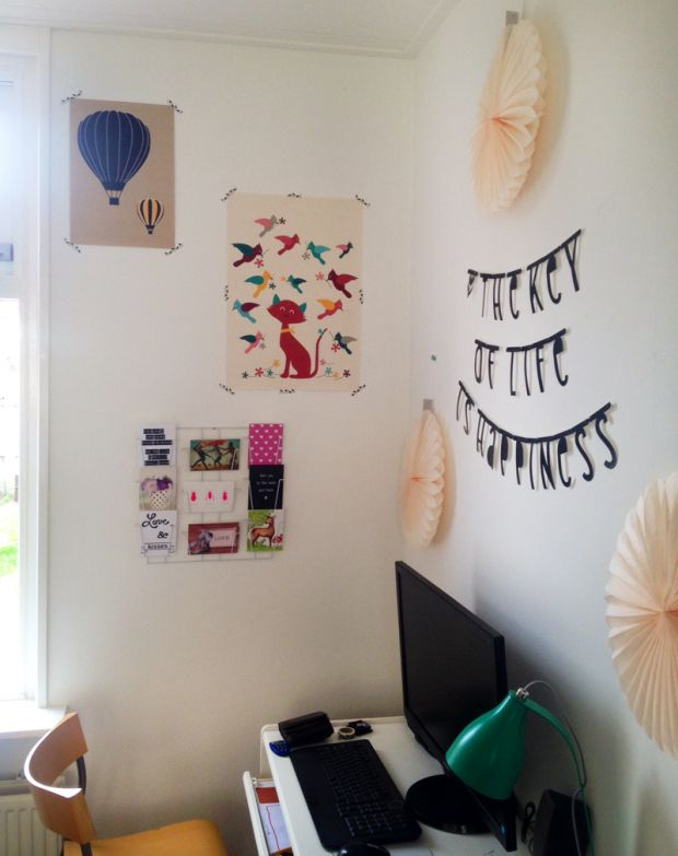 Two cute Oktoberdots posters at the workplace of Eeke Vriesma (photo by Eeke)