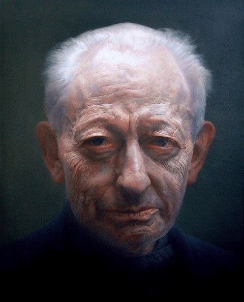Artist - Paul Emsley Michael Simpson. Oil on canvas. 137.5 x 112 cm. Artist: Paul Emsley. Winner of the BP Portrait Award, the National Portrait Gallery's annual painting competition and exhibition in 2007.