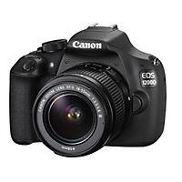Canon EOS 1200D er et hurtigt digitalt spejlreflekskamera med 18 megapixels CMOS-sensor, 1080p Full HD-video, 3 LCD-skærm og et 18-55mm DC-objektiv.