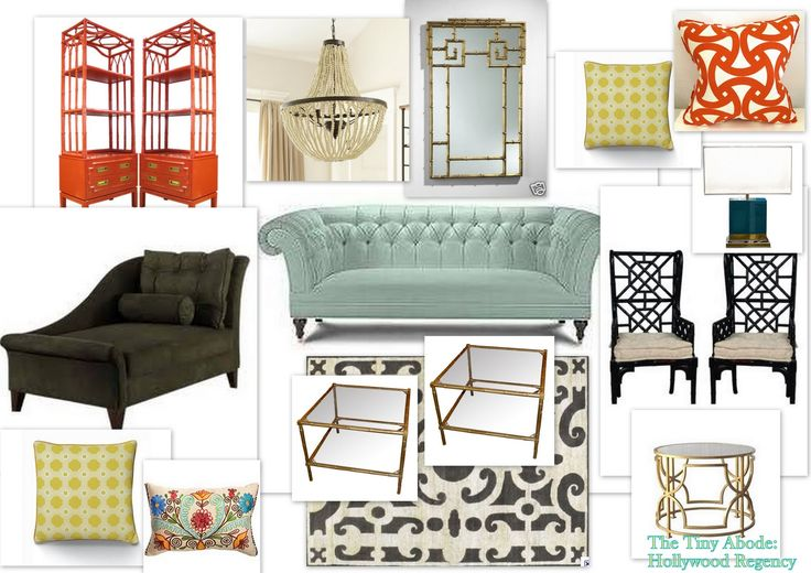 The Tiny Abode: Hollywood Regency: My Very First Mood Board