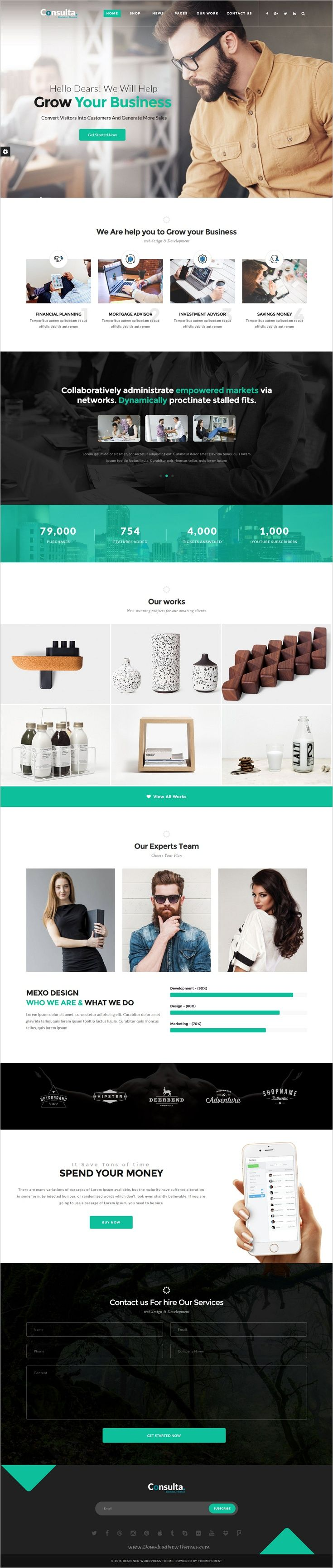 Consulta is beautifully design responsive #WordPress #theme best suited for corporate website like #Financial #Advisor, Accountant, Consulting Firms website with 10+ unique homepage layouts download now➩  https://themeforest.net/item/consulta-professional-business-financial-wordpress-theme/17654125?ref=Datasata