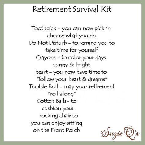 Retirement Survival Kit includes Topper and Card  by SuzieQsCrafts, $1.50