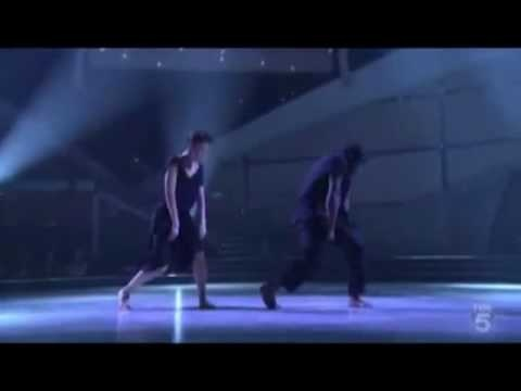 "Season 4 of So You Think You Can Dance. Katee & Joshua's contemporary dance to Adele's ""Hometown Glory"".  Choreography by Mia Michaels.  Story is about 2 people from different worlds that come together and the frustrations that come along with it.  Looks like Katee was running on air.  Amazing!"