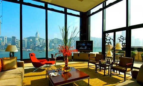 Seven thousand square feet of lavish space spread across two floors, with five-bedrooms, a #Jacuzzi, and a personal butler…this is what one can expect at the Presidential Suite at the Intercontinental #HongKong. The views of Hong Kong's skyline are absolutely magnificent thanks to the glass walls. Every detail in this Presidential Suite oozes class: the bathroom sinks were carved out of marble from #China's #Fujian P