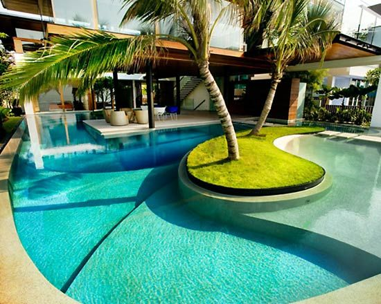 Best 25 tropical pool landscaping ideas only on pinterest for Private pool design
