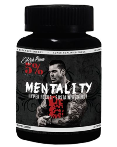 Mentality (90 CAPS) - FREE TSHIRT    To live the 5% lifestyle you must have the 5% MENTALITY. This groundbreaking product has been meticulously constructed for gamers, business professionals, students, athletes, and ANYONE else looking for an enduring and superior mental edge. The MENTALITY Energy Blend was designed with the special emphasis of giving you LASTING ENERGY, because your day is not a sprint, it's a marathon. MENTALITY escorts your mind into a high realm of focus and cognitive…