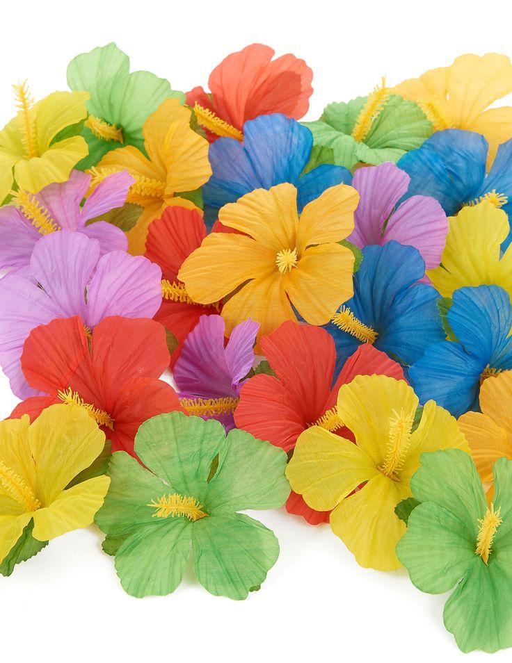 24 Fiori Hawaiani di stoffa colorata su VegaooParty, negozio di articoli per feste. Scopri il maggior catalogo di addobbi e decorazioni per feste del web, sempre al miglior prezzo!