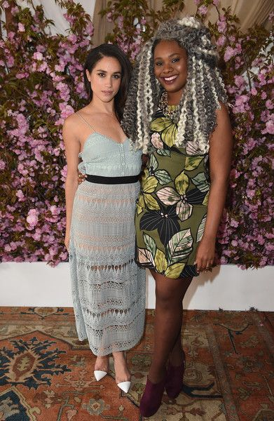 Meghan Markle Photos Photos - Mentor Meghan Markle and honoree Crystal Valentine attend Glamour and L'Oreal Paris Celebrate 2016 College Women Of The Year at NoMad Hotel Rooftop on April 27, 2016 in New York City. - Glamour and L'Oreal Paris Celebrate 2016 College Women Of The Year