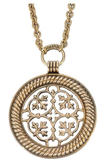 PALMETTE ORNAMENT PENDANT, material: bronze