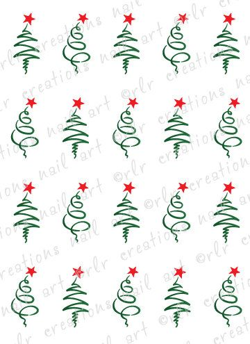 Hey, I found this really awesome Etsy listing at http://www.etsy.com/listing/113703226/20-christmas-nail-decals-christmas-tree